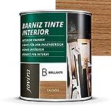 BARNIZ TINTE INTERIOR BRILLANTE, (6 COLORES), Barniz madera,