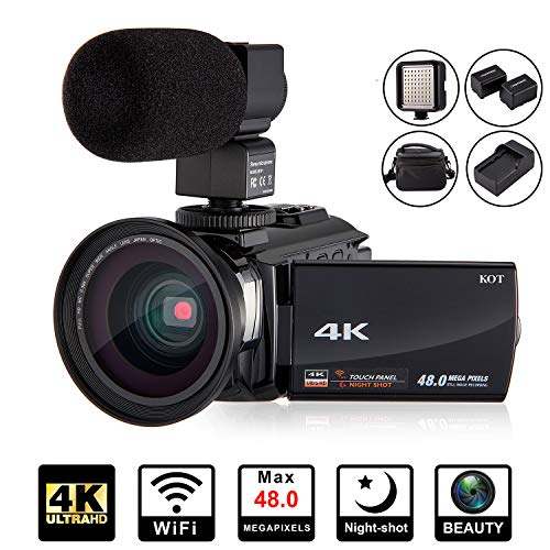 4K Camcorder Video Camera KOT HD WiFi...