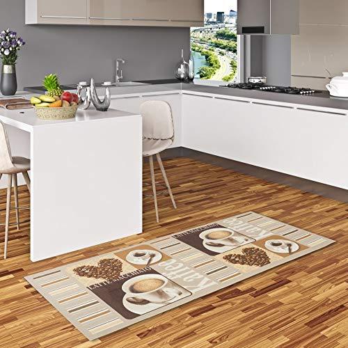Pergamon Küchenläufer Teppich Trendy Kaffee Heart in 2 Größen