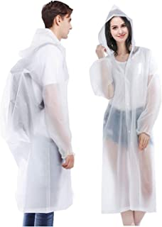 Ahsado 2 pezzi poncho antipioggia giacca antipioggia Eva impermeabile unisex riutilizzabile impermeabile impermeabile tras...