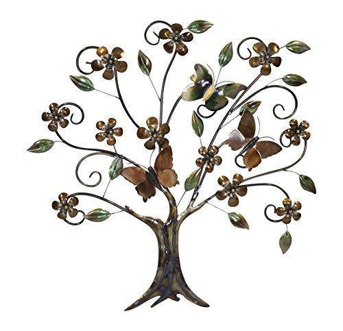 Decoline Metall Wand-Bild (E) Baum 76 x 77cm