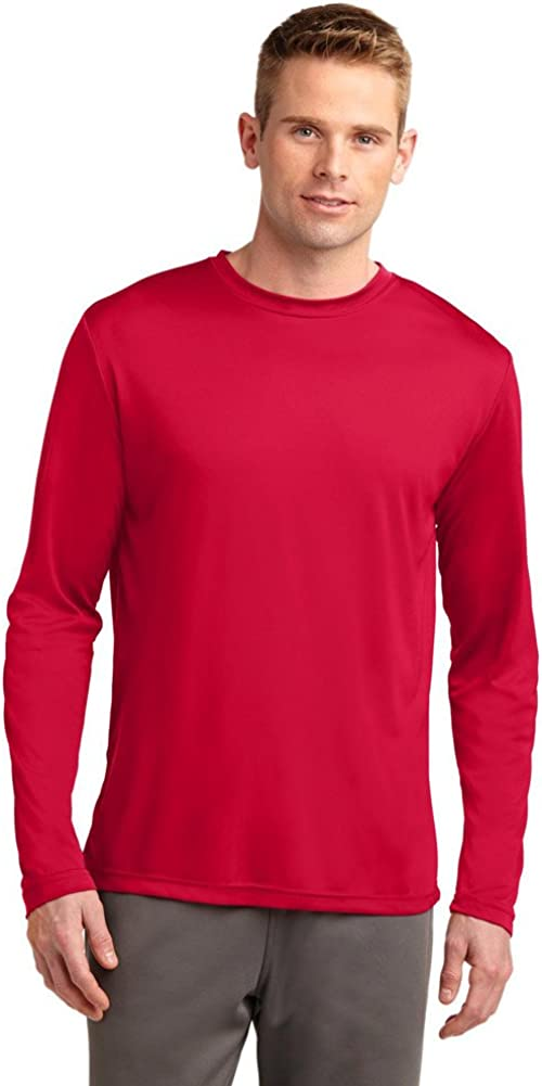 SPORT-TEK Mens Tall Long Sleeve PosiCharge Competitor Tee, 3XLT, True Red