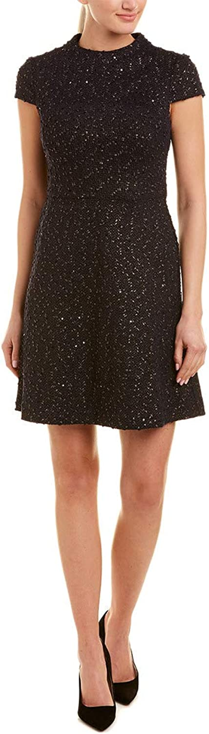 Vince Camuto Women's Boucle Cap Sleeve Fit & Flare Dress