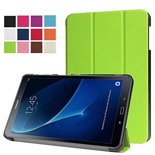 Funda para Samsung Galaxy Tab para A SM T580SM y SM-T585de 10.1pulgadas delgada y elegante, con soporte desplegable verde in Grün