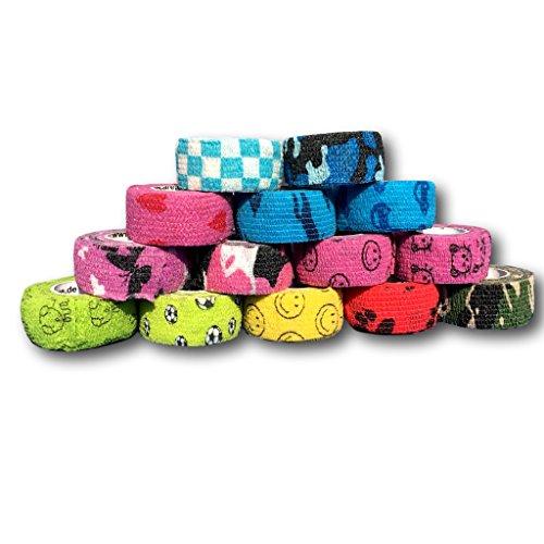 Bunter Mix 10er Set LisaCare | Pflasterverband | Fingerpflaster | Rollenpflaster | Kinderpflaster | Pflaster auf Rolle | Pflaster ohne Kleber | elastisch, wasserabweisend, dehnbar, 2,5cm breit x 4,5m lang