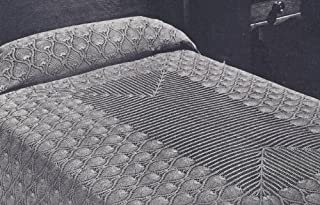 Vintage Crochet Pattern to make - Pineapple Bedspread Tablecloth Runner. NOT a finished item. This is a pattern and/or instructions to make the item only.