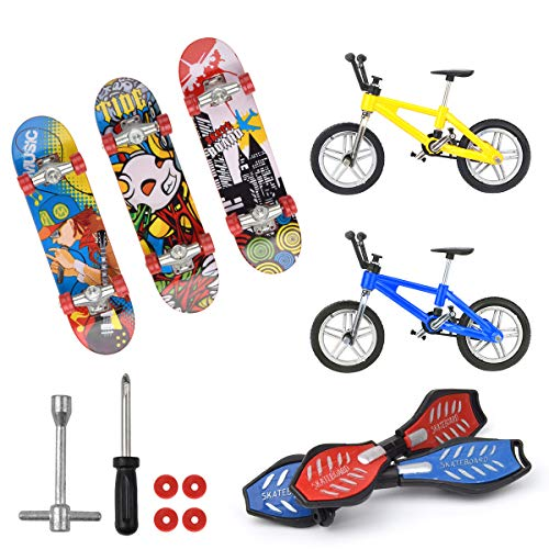 Hotusi Mini Finger Sports Skateboards/Bikes/Swing Boards for Party Favors Educational Finger Toy