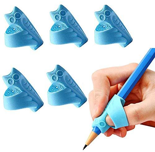 UWinsic Bleistift Griffe, 5 Stück Silikon Ergonomische Schreibhilfe für Stift kinder Erwachsene, Stifthalter Grip kind Finger Griffe Halter Handschrift Werkzeug für Linkshänder und Rechtshänder