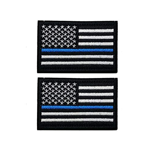 American Flag Patch, Tactical Military Flag Patches, American Military Flag Emblem Patch. (Thin Blue line Flag)
