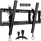FOZIMOA Tilting TV Wall Mount Bracket for 32-80 inch TVs, up to 165 lbs & VESA 600x400mm, Fits Flat Curved LED LCD Plasma Screen, HDMI Cable & Bubble Level Included