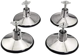 retroarcade.us ra-Billiard-tab-ll4 Billiard Pool Table Leg levelers Set of 4 with 6 inch Base and Rubber molding
