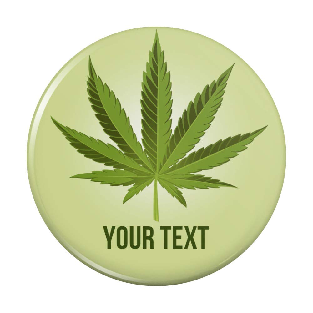 Personalized outlet Custom 1 Line Marajuana Product Purse Leaf Compact Pocket H