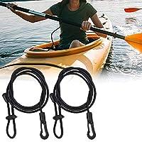 安全ギアカヤックパドルリーシュ、2PCSカヤック安全ロッドリーシュ調整可能な釣りロッド、カヤック用調整カヤックセーフティロッドリーシュ釣りロッドパドルリーシュ