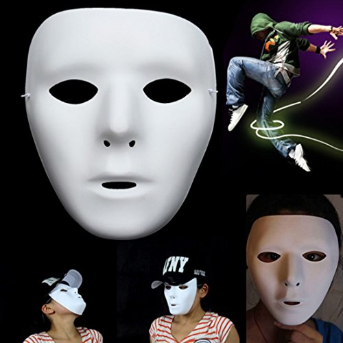 Máscara de Jabbawockeez Fool 's Day Joke Máscara facial de juguete Fancy Mysterious Costumes Halloween Ghost Dance Hip-hop Performances Party Dress Mascarada Ball Máscaras Por Ungfu Mall