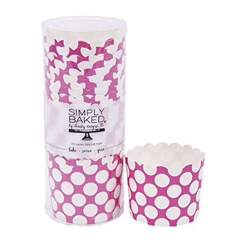 Simply Baked Large Paper Baking Cup (Fuschia)