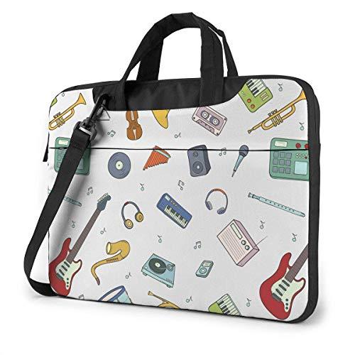Bolsa de Ordenador portátil para Estudiantes Adultos, Funda Protectora para Ordenador portátil, Bolso para Instrumentos Musicales, Teclado, Cuerno, fonógrafo
