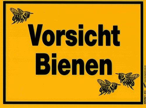 PST-Schild - Vorsicht Bienen - 309290/1 - Gr. ca. 20cm x 15cm - Kunststoffschild - Imker Biene Bee Honey