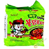 Samyang Jjajang Hot Chicken Ramen 짜장 불닭 볶음면 , multi, 4.94 ounce (pack of 5) (Ven-VND15-149)