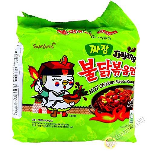 Ramen picante Jjajang SAMYANG paquete 5x140g Corea ramen de fideos instantáneos