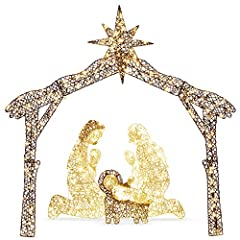 BEAUTIFUL SILHOUETTE: Light up your front yard and spread the Christmas message with a glowing nativity scene CELEBRATE CHRISTMAS: Celebrate the true reason for this season with a heartwarming snapshot of Joseph, Mary, and baby Jesus WARM WHITE LIGHT...