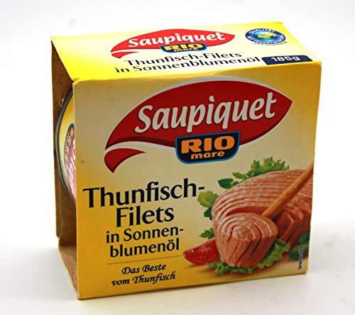 Saupiquet ThunfischFilets in Sonnenblumenöl, 16er Pack (16 x 185g)