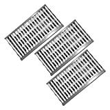 Kalomo Stainless Steel Grill Heat Plates Shield Burner Cover Tent Flame Tamer,...