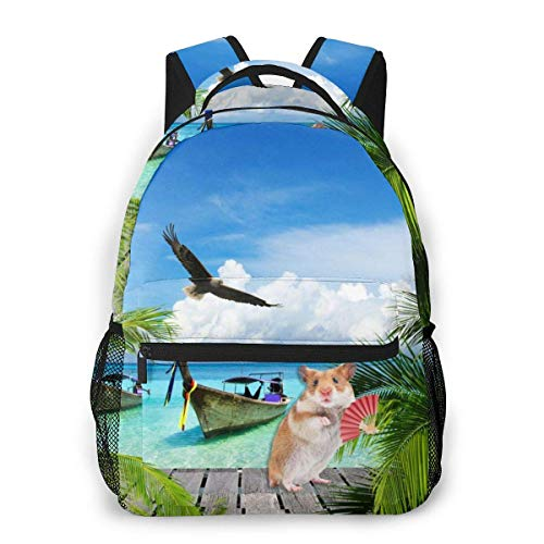 Lawenp Fashion Unisex Backpack Beach and Tropical Sea Bookbag Lightweight Laptop Bag for School Travel Outdoor Camping