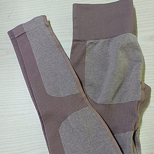 Pantalones De Yoga,Europa y los Estados Unidos Pantalones de yoga sin fisuras Hips de cintura alta pantalones ajustados para correr Pantalones de aptitud deportiva Cintura alta HIP HIP pantalones-Pan