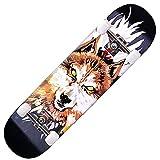 Skateboard,80 x 20cm,Completo Patineta,Longboard,Mini Cruiser,Tabla de Skateboard,8 Capas Monopatín de Madera de Arce,Doble Patada Cóncava,para Adolescentes Principiantes Niñas Niños Adultos