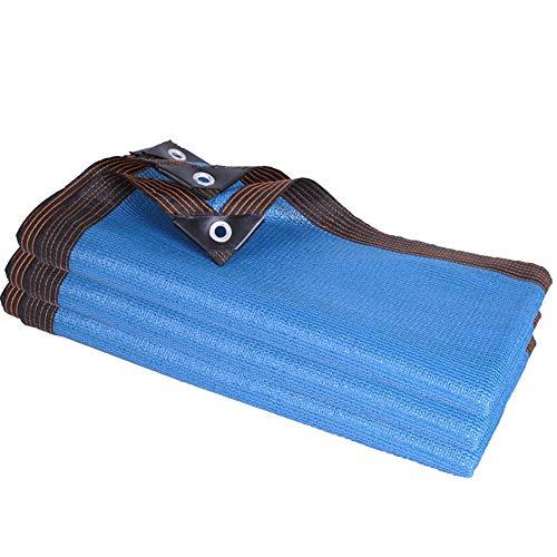 CYOUL-LI Shade Neto al Aire Libre de Protección Solar/Balcón Patio de refrigeración de la Planta de Aislamiento Neto Craft de 12 Pines (Color : Blue, Size : 4X4M)