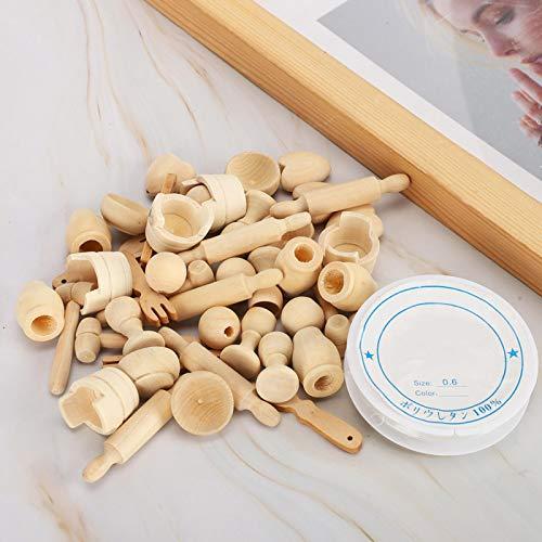 Cuentas de madera de color madera Cuentas de madera sin terminar Cuentas de madera redondas de color madera Alta calidad para colgante para joyería Accesorios para collar