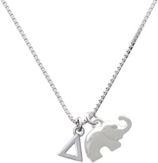 Small Greek Letter - Delta - Elephant Necklace, 18