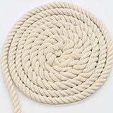 AILINDA 100% algodón trenzado suave cuerda de 10 mm cuerda gruesa para macramé, anudar, manualidades, juguetes de mascotas, 10 metros