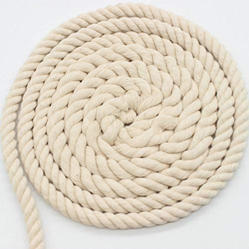 AILINDA Dikke Macrame Katoen Koord DIY Handgemaakte Craft Koord voor Haak Tafelmatten Manden Manden Touw Outdoor Hangmat Tang, 55 Yards
