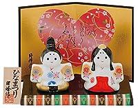 雛人形 コンパクト 陶器 小さい 可愛い ひな人形/錦彩子供雛 白磁/ミニチュア 初節句 お雛様 おひな様 雛飾り