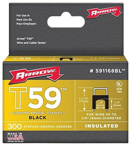 Arrow Fijador – Grapas negras de 6 mm x 6 mm (300)