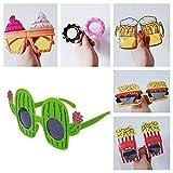 6 Gafas de Fiesta Cactus Hawaianas Party Glasses Novedad Gafas Sol Tropicales Foto Props Decorativas Playa Accesorios Fotomatón Niños Adultos Feliz Anteojos Graciosos