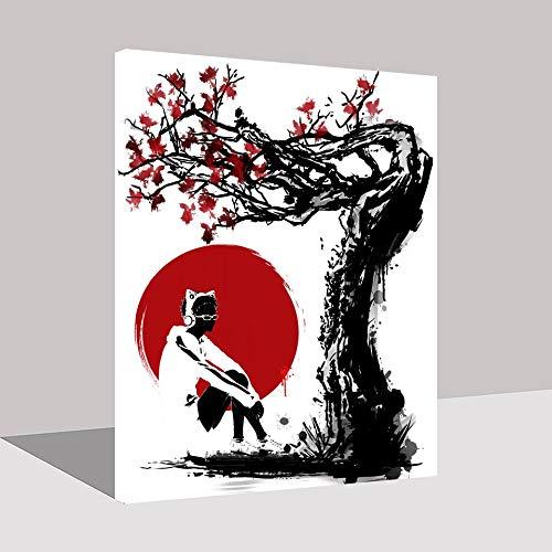Puzzle 1000 Piezas Arte de Imagen Abstracta de Pintura de animación Japonesa Popular en Juguetes y Juegos Educativo Divertido Juego Familiar para niños adultos50x75cm(20x30inch)