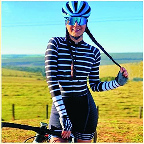 Jersey da donna in bicicletta in bicicletta tuta da ciclismo tuta pelle adattabile aderente a maniche lunghe a maniche lunghe 2 0D GEL PRO. JINSHAO (Color : 4, Size : XX-Large)