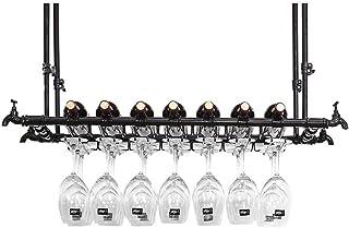 Casiers à vin Support mural, Porte-verre à vin suspendu, Hauteur réglable, Organisateur de supports à verres à pied, Porte...