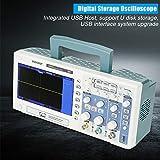 Osciloscopio, AC110-240V DSO5202P Osciloscopio de almacenamiento digital 200MHz 2 Canales 1GSa / s (enchufe de la UE)