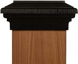 6x6 Post Cap - (Nominal) Black Flat Top - 10 Year Warranty!