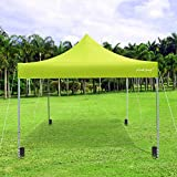 Kamots Beauty Pop Up Canopy Outdoor Tent - Canopy Tent 10x10,Commercial Instant Canopies Tent with Heavy Duty Roller Bag,Bonus 4 Canopy Sand Bags,4 Pulling Rope,8 Anchor Nail(Grass Green)