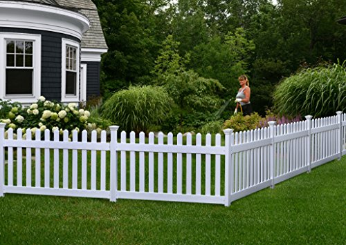 Zippity Outdoor Products ZP19002 Fence Newport, 36' H x 72' W, White