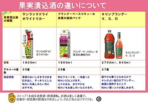 メルシャン『ブランデーベースリキュール果実の酒用パック』