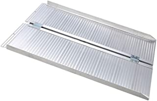 Olymstore 4 ft Portable Aluminum Folding Ramp for Wheelchair Scooters Dogs Emergency Hospital -Briefcase Mobility,Non Slip,Home Utility