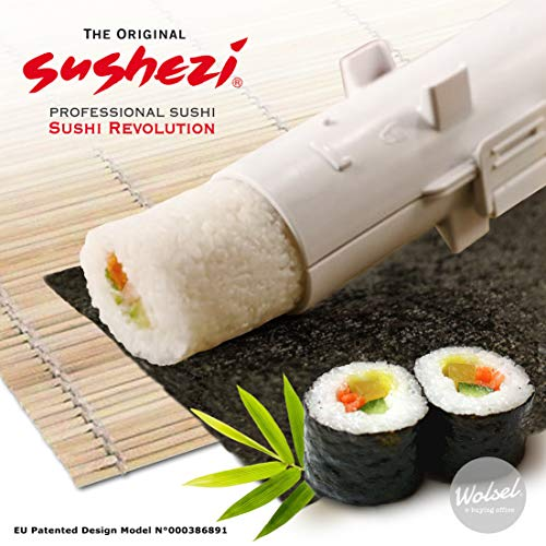 Sushezi Selber perfektes Sushi Machen, Kunststoff (PP) : Topilène BPA Free, weiß, 30 x 6 x 6 cm