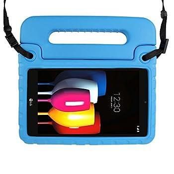 SIMPLEWAY Case for LG G Pad F2 8.0 / LG G Pad X2 8.0 PLUS Shoulder Strap Lightweight Handle Stand Cover Case Fit LG GPad F2 8.0 Sprint LK460 / LG GPad X2 8.0 PLUS V530 8inch Tablet 2017 Release Blue