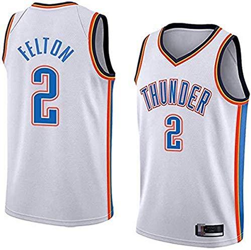 XSJY Männer Jersey NBA OKC 2# Raymond Felton Classic Atmungsaktiver Stoff Klassische Retro- Mode Sleeveless Weste T-Shirt Unisex,B,XXL:185~190cm/95~110kg