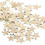 UFLF 100 Pz Ciondoli Stelline Pendenti per Gioielli Fai da Te Mini Ciondoli a Stella per Collane Bracciali Creazione di Gioielli
